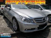 2010 MERCEDES-BENZ E-CLASS E250 Coupe W207 TRUE YEAR MADE 2010 NO SST FREE 1 YEAR WARRANTY Japan High Spec Push Start AMG Rims