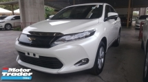 2015 TOYOTA HARRIER 2.0 PREMIUM PACKAGE UNREG 1 YEAR WARRANTY
