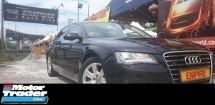 2012 AUDI A8 3.0 ( A ) SE TFSI QUATRRO TURBO !! LONG WHEEL BASE !! PREMIUM HIGH SPECS THAT COMES WITH KEYLESS ENTRY PUSH START MOONROOF & ETC !! ( WXX 191 ) 1 CAREFUL OWNER !!