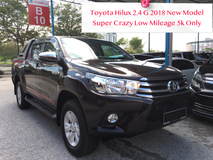 2018 TOYOTA HILUX 2.4 G Super Low Mileage 5k Only