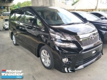 2015 TOYOTA VELLFIRE 2.4 ZG EDITION 2 POWER DOOR POWER BOOT 7 SEATER 4 ELECTRIC PILOT LEATHER SEATS 19 RIM DVD PLAYER BLU
