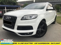 2013 AUDI Q7 3.0TFSI QUATTRO S-LINE AIR SUSPENSION POWER BOOT HD REVERSE CAMERA