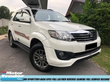 2016 TOYOTA FORTUNER Toyota FORTUNER 2.7 V TRD SPORTIVO H.SPEC LEATHER SEAT REVERSE CAMERA FULL SERVICE RECORD