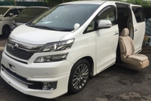 2013 TOYOTA VELLFIRE 2013 Toyota Vellfire 2.4 WELCAB  Facelift Model White Colour