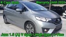 2016 HONDA JAZZ 1.5 V i-VTEC ACTUAL YEAR PUSH START TOUCH SCREEN PLAYER SUPPORT WIFI FULL SERVICE & WARRANTY HONDA UNTIL 2021 ( 5 YEARS WARRANTY ) FULL LOAN