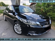 2014 HONDA ACCORD 2.0 VTI-L FULL SPEC NAVIGATION WITH ORIGINAL LEATHER INTERIOE AND SPORT SPECONE OWNER LOW FULL SERVICE RECORD