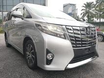 2015 TOYOTA ALPHARD G Specs SIlver Color Beige Interior 7 Semi Leather Seat