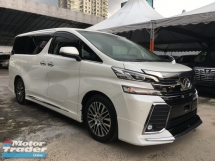 2017 TOYOTA VELLFIRE 2.5 (A) ZG Edition Full Alpine With Sunroof Unreg