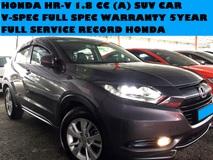 2016 HONDA HR-V 1.8 CC (A) V SPEC SUV CAR REVERSE CAMERA FULL SERVICE RECORD PUSH START