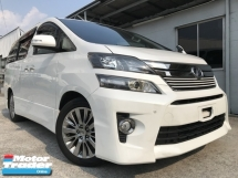 2013 TOYOTA VELLFIRE 2.4 VVTI GOLDEN EYE UNREG NOSY WHITE