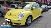2007 VOLKSWAGEN BEETLE 2.0 (A) REG 2008, CBU, LADY OWNER, SELDOM SUE, LOW MILEAGE DONE 113K KM, 100% ACCIDENT FREE, FREE 1 YEAR CAR WARRANTY