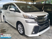 2016 TOYOTA VELLFIRE 2.5 ZA 7 SEATER POWER BOOT 360 VIEW CAMERA 4 CAM AUTO CRUISE CONTROL