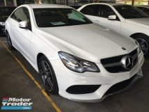 2014 MERCEDES-BENZ E-CLASS E250 E200 2.0 AMG COUPE 2 DOOR TWIN TURBO (RM) 199,000.00