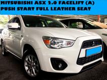 2014 MITSUBISHI ASX 2.0 (A) SUV NAVI SPEC REVERSE SAMERA PUSH START FULL LEATHER SEATS