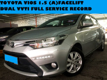 2016 TOYOTA VIOS 1.5 CC DUAL VVTI ENGINE FACELIFT REVERSE CAMERA FULL SERVICE RECORD TOYOTA MALAYSIA GOOD CONDITION