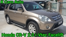 2006 HONDA CR-V 2.0 (A) i-VTEC FACELIFT OLD MAN CAREFULLY OWNER EXCELLENT CONDITION NO REPAIR NEED CASH ONLY NO LOAN