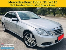 2011 MERCEDES-BENZ E-CLASS E220D 2.2 (A) W212 Full Leather Seats E200 E250 CGI CDI MERCEDES BENZ