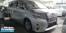 2015 TOYOTA ALPHARD NEW MODEL 2.5CC X SPEC / 1@2 POWER DOOR / READY STOCK PROMOTION