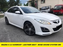 2012 MAZDA 6 2.5 SDN 5EAT SUNROOF ORIGINAL BOSE SOUND SYSTEM FULL LEATHER SEAT ORIGINAL PAINT FULL LOAN CONCITION LIKE NEW