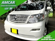 2006 TOYOTA ALPHARD 3.0 V6 MZG (A) P/DOOR 1 OWNER