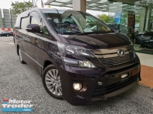 2014 TOYOTA VELLFIRE 2.4ZG WITH SUNROOF, LOW MILEAGE - UNREG