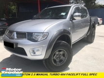 2014 MITSUBISHI TRITON 2.5 MT 4X4 TURBO FACELIFT MODEL F/SPEC BLACK INTERIOR