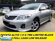 2015 TOYOTA ALTIS 1.8G NEW FACELIFT LIMITED BLACK EDITION INTERIOR FULL LOAN 9 YEAR