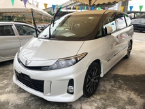 2016 TOYOTA ESTIMA 2.4 Aeras Premium Edition 7 Half Leather Seat Power Seat 2 Power Doors Bi Xenon Lights Zone Climate Control Smart Entry Push Start Button Auto Cruise Control Front Reverse Camera 1 Year Warranty Urneg
