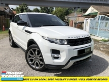 2016 LAND ROVER EVOQUE RANGE ROVER EVOQUE 2.0 Si4 FACELIFT 9 SPEED LOCAL SPEC FULL SERVICE RECORD