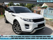 2014 LAND ROVER EVOQUE Range rover 2.0 evoque si4 LOCAL FACELIFT ONE OWNER ORIGINAL CONDITION TIPTOP SUVs