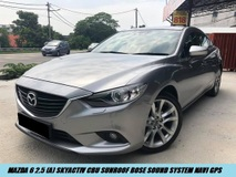 2015 MAZDA 6 2.5 SDN 5EAT FACELIFT PADDLESHIFT LEATHER SEAT SUNROOF SHOWROOM CONDITION LIKE NEW