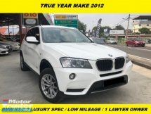 2012 BMW X3  xDrive20i LOCAL SPEC PREMIUM HIGH SPEC ONE OWNER BEFORE TIP TOP CONDITION 3 DIGIT WILAYAH NICE NUMBER