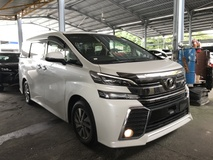 2017 TOYOTA VELLFIRE 2.5 Z 7 SEATERS SUNROOF ALPINE SOUND POWER BOOTH SURROUNDING 4 CAMERA 2017 JPN UNREG NO SST