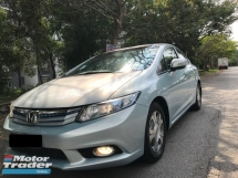 2013 HONDA CIVIC 1.5 (A) HYBRID - ACTUAL YEAR MADE  ( FULL SERVICE RECORD )