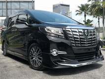 2015 TOYOTA ALPHARD 2.5 SC LEATHER PRE CRASH MODELLISTA SUN ROOF JAPAN ORIGINAL SPECS