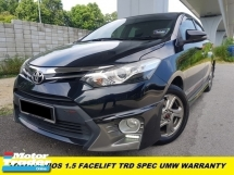 2018 TOYOTA VIOS 1.5 TRD SPORTIVO SPEC ONE OWNER ORIGINAL PAINT LOW MILEAGE TIPTOP