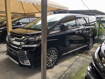 2015 TOYOTA VELLFIRE 2.5 ZG Edition 4 Surround Camera Pilot Memory Seat Automatic Power Boot 2 Power Door Intelligent Bi LED Light Smart Entry 3 Zone Climate Pre Crash Auto Cruise Bluetooth 9 Air Bag Unreg