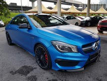 2015 MERCEDES-BENZ CLA 45 AMG 2.0 (A) 20K MILEAGE ONLY , WARRANTY TILL 2021 MAY