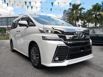 2015 TOYOTA VELLFIRE 2.5ZG Edition Pilot Seat HD Player DVD