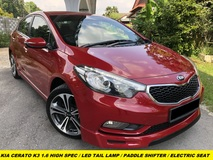 2016 KIA CERATO K3 FULL SPEC LED LAMP PADDLE SHIFTER ELECTRIC SEAT MEMORY SEAT DAYLIGHT SYSTEM LEATHER SEAT PUSH START KEYLESS