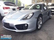 2014 PORSCHE CAYMAN S 3.4 FACELIFT.PDK.UNREGISTER.TRUE YEAR MADE CAN PROVE.JAPAN.HIGHSPEC.SPORT STEERING N BUTTON SYSTEM.REVERSE CAMERA.XENON LAMP.SPORT RIM.FREE 1 YEAR WARRANTY N MANY GIFTS