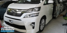 2014 TOYOTA VELLFIRE ZG 2.4 / PILOT SEATS / SUNROOF / TIPTOP CONDITION