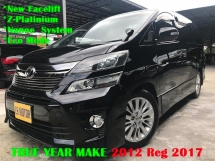 2012 TOYOTA VELLFIRE 2.4 VVTi Z-Platinium 7Seat 2Power Door Power Boot