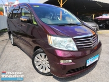 2003 TOYOTA ALPHARD 240G SIDE LIFT UP SEAT