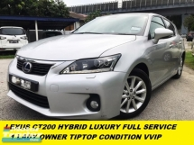 2013 LEXUS CT200H HYBRID LUXURY NAVI GPS PREMIUM HIGH SPEC  FULL SERVISE RECOR LEXUS MALAYSIA SUPER LOW MILEAGE CONDITION LIKE NEW ORIGINAL PAINT  NO ACCIDENT BEFORE