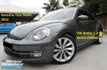 2012 VOLKSWAGEN BEETLE 1.2 TSI (A) Sports Edition (Ori Year Make 2012)(Full Loan 9 Years)(1 Owner)