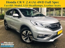 2015 HONDA CR-V 2.4 (A) 4WD SUV Facelift Under Honda Warranty 6xk Mileage ONLY