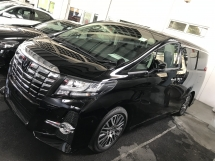 2017 TOYOTA ALPHARD 2.5 SC SUNROOF JBL FULL LEATHER SEAT 4 SURROUND CAMERA 2017 JAPAN UNREG NO SST