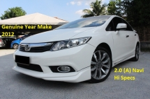 2012 HONDA CIVIC 2.0 (A) Navi iVtec (Ori Year Make 2012)(Full Loan 9 Years)(1 Owner)