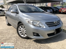 2009 TOYOTA ALTIS 2009 TOYOTA COROLLA ALTIS 1.8G (A)One Owner,Original Low Mileage